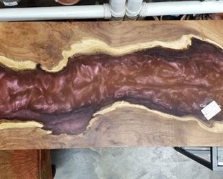 Hand Crafted Mesquite RIVER table