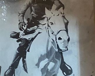 SIgned Lone Ranger print in frame