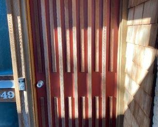 Mid Century Front Door + Frame $500