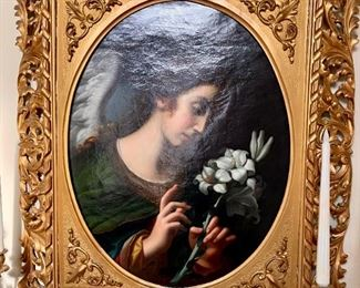 L'ange De L'annonciation signed by Italian Painter Adolfo Dumini - $3500 - Pre-Sale Available