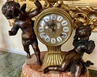 Antique Cherub Clock (3 Pieces) - $600 - Pre-Sale Available