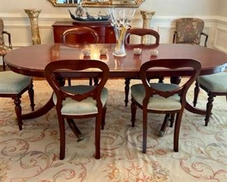 Unique Dining Table Imported from England with 6 Chairs - $2500 - Pre-Sale Available