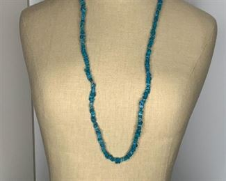 """Item #17 34"""" Turquoise bead necklace $10"""