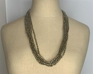 "#3 28"" 8 Strand Fashion Necklace $10"