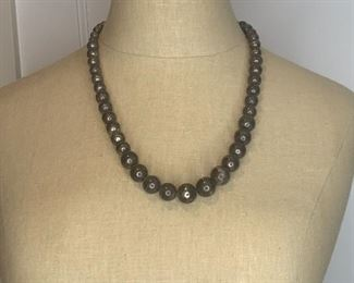 "#5 23"" graduated metal bead necklace $7.50"