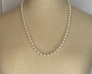 """#7 24"""" quality faux pearl necklace $10"""