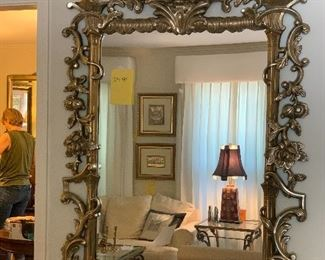 "72"" by 43""  Ornate Mirror $200"