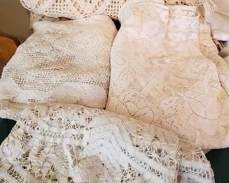 Nice Vintage Fancy Linens