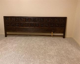 12 foot long solid wood headboard  $200