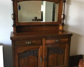 """Beautiful side board.  Very unique. Bottom measures 38""""x 47"""". Total height is approximately 75""""."""