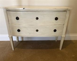 Shabby Chic Small 2 Drawer Chest of Drawers as is