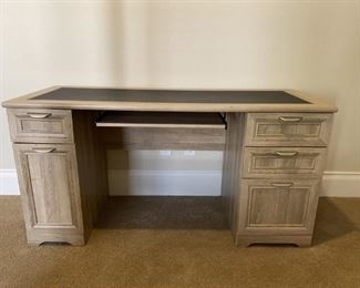 Computer Desk with Ash Finish