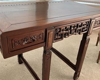 Asian table or desk w two drawers.  33 inches tall 44 inches long by 25 deep.  $1450.