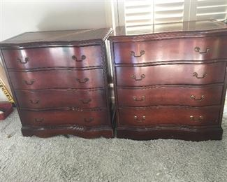 Leather top chests