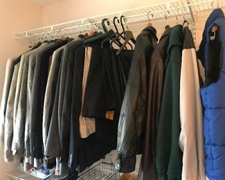 Men's suit jackets and shirts