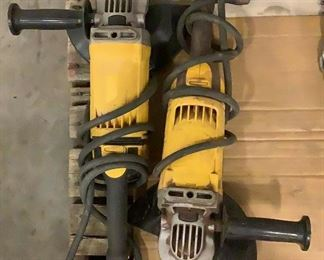 """Located in: Carson City, NV MFG DeWalt Model DWE4559E Power (V-A-W-P) 120 Volts 9"""" Angle Grinders **Sold as is Where is** Tested Works"""