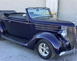 VIN 182937532 Year: 1936 Make: Ford Model: Roadster Trim Level: Convertible Engine Type: 350 Small Block V8 Transmission: Automatic Miles: 22,156 Color: Purple Driveline: 2WD Located In: Chattanooga, TN Operational Status: Runs and Drives **More Info Coming Soon!** Manual Windows Manual Mirrors Power Seats Vinyl Interior *Sold As Is Where Is*