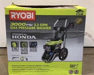 "Located in: Chattanooga, TN Condition ""Return"" MFG Ryobi 3000PSI Gas Pressure Washer 2.3GPM **Sold As Is Where Is**  SKU: P-1-A Works"
