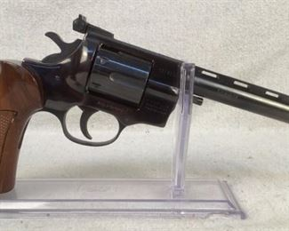 "Serial - 1014252 Mfg - F. Weihrauch Model - HW357 Revolver Caliber - 357 Magnum Barrel - 6.25"" Capacity - 6 Type - Revolver, Double Action Located in Chattanooga, TN Condition - 3 - Light Wear This lot contains a F. Weihrauch HW 357 revolver chambered in 357 Magnum. This revolver features wood grips, a blued finish m and a painted front sight for better sight acquisition.  **Dayton PD search and seizure firearm**"