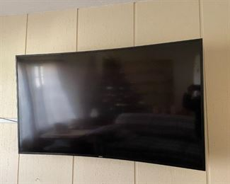 . . . this Samsung is huge -- haven't measured it yet (wall mount)