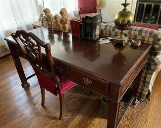 . . . a nice library table or executive desk