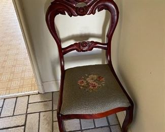 . . . a beautiful needle pointe accent chair
