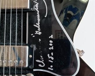 """Gibson Custom Shop Guitar signed by Clarance """"Gatemouth"""" Brown.  1/15/2002"""