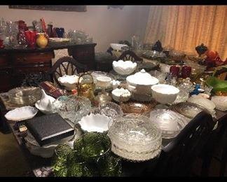 Plenty of glassware
