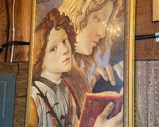 "Botticelli print in gold frame, 30.5""W x 42""H"