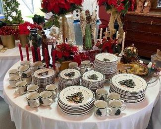 Christmas decor and dishware