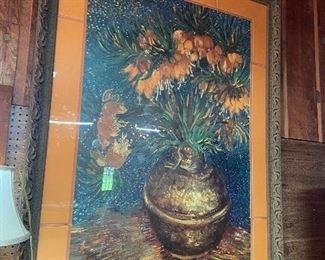"Vincent Van Gogh framed print 71""H x 54""W"