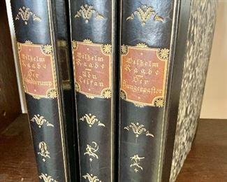 """$75 - Set of 3 volumes by Wilhelm Raab; """"Der Hungerpastor"""", """"Abu Telfan"""" and """"Der Schudderump"""""""