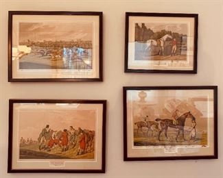 Hand painted Lithographs.  Henry Thomas Alken (1785-1851)