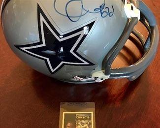 Autographed Emmett Smith Dallas Cowboys Helmet