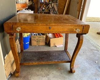Antique work table with drawer