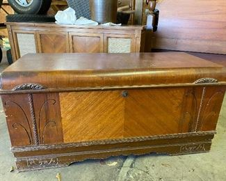Waterfall hope chest 1930's cedar inside