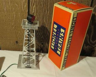 Lionel model spot light tower