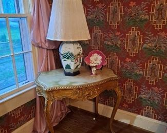 Antique Italian Marble Top Side Table