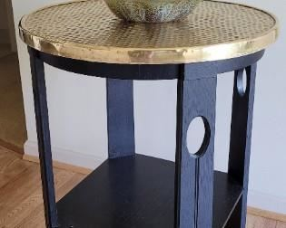 Brass top accent table. Possibly Scottish.