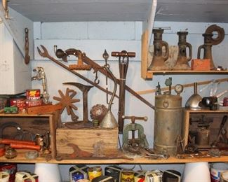 Various Metal Pieces and Tools