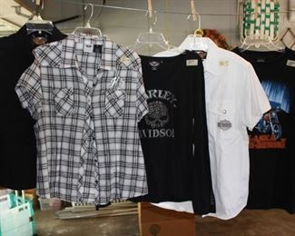 Just a few of the Harley Davidson shirts available!