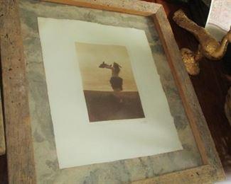 "Edward B. Curtis ORIGINAL 1918 photograph ""THE EAGLE CATCHER"""