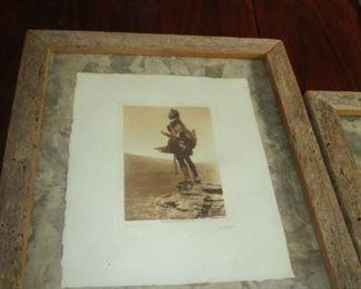 Edward B. Curtis ORIGINAL 1918 photograph-- CALLING OF THE BUFFALO SKULL