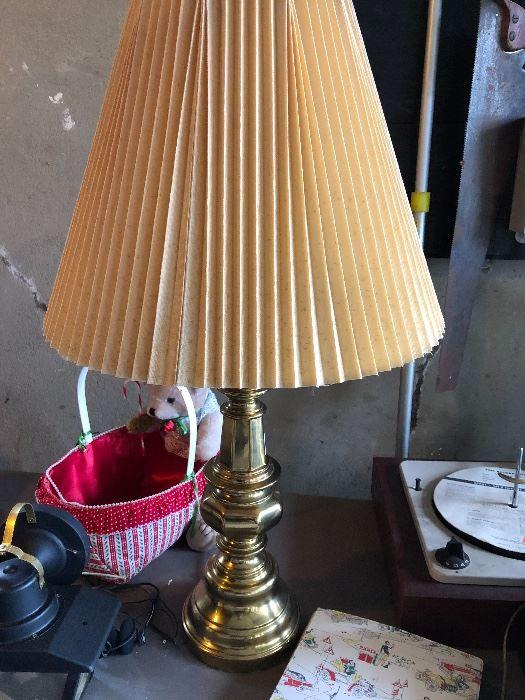Brass lamp $10