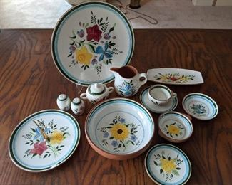 Stangl Pottery - Country Garden - dinner plate - lug bowl -bread plate - cup - saucer -  bowl - serving bowl and platter - salt and pepper - sugar bowl - pitcher - butter dish