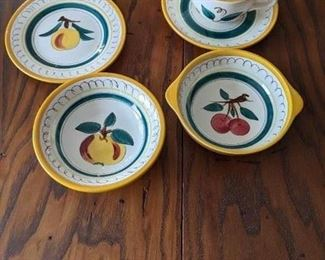 Stangl Pottery - Fruit - bread plate - lug bowl - cup and saucer -  bowl