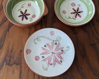 Stangl Pottery - Carnival  - dinner plate - lug bowl  - bowl