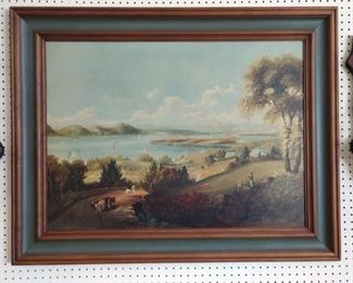 """""""The Land of Promise"""" by Robert Havell Jr. (1793-1878) Framed Print"""