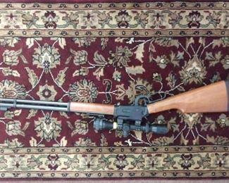 Walther Lever Action .177 Cal Back Pellet Rifle with BSA Scope