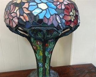 Meyda 50352-Tiffany Zinnia Table Lamp